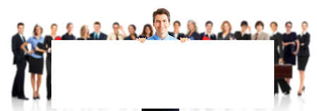 placard: Business people team. Stock Photo