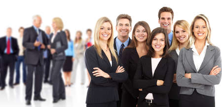 Business peole team. Isolated over white background. Stock Photo - 9138661