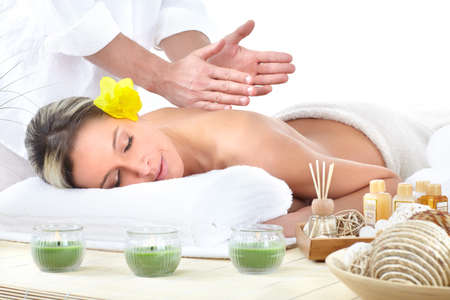 holistic: spa massage Stock Photo