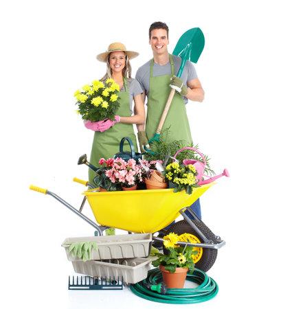 woman gardening: Gardening Stock Photo