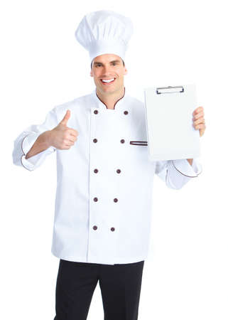 Chef.  Isolated over white background. photo