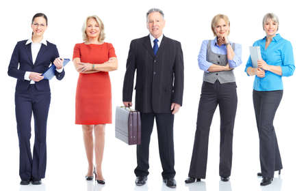 Business people team.  Isolated over white background. Stock Photo - 9130229