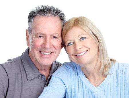 pareja saludable: pareja de personas mayores