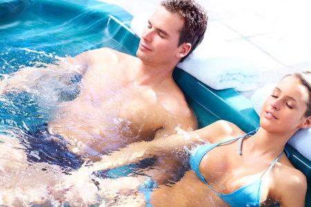 Couple in jacuzzi Stock Photo - 9140114