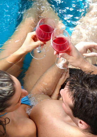 Couple in jacuzzi photo