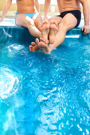 Legs on the water photo