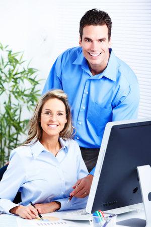 werk: mensen uit het bedrijfsleven Stockfoto