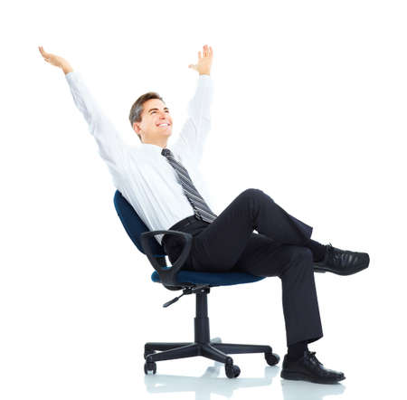 of office: Businessman Stock Photo