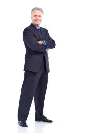Business man   Isolated over white background  photo
