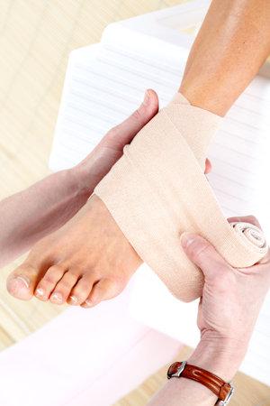 pain: Foot pain Stock Photo