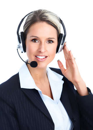 customer service representative: Customer service operator Stock Photo