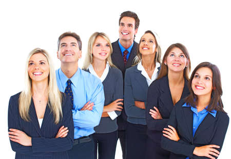 Business people team.  Isolated over white background. Stock Photo - 9367326