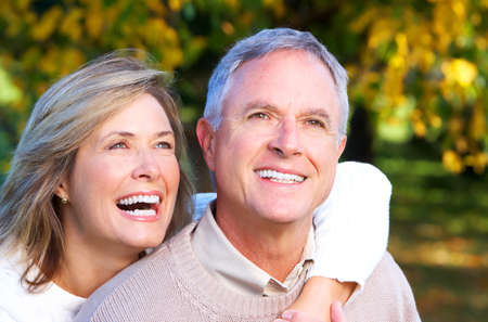 healthy seniors: Happy senior couple. Stock Photo
