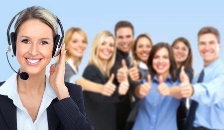representatives: Call center operator Stock Photo