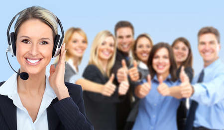 call: Call center operator Stock Photo