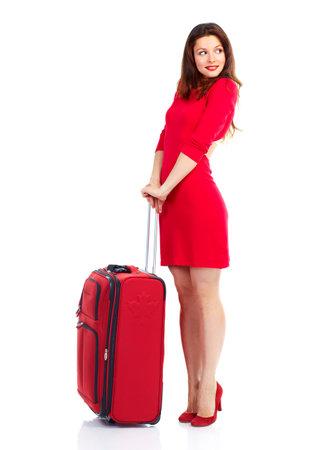 femme valise: Touristiques