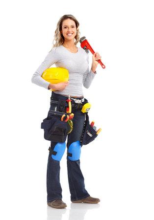 Worker Frau Standard-Bild - 9329574