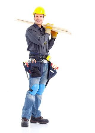 Handsome contractor Stock Photo
