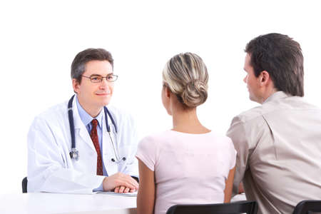 doctor and young couple Stock Photo - 9329590