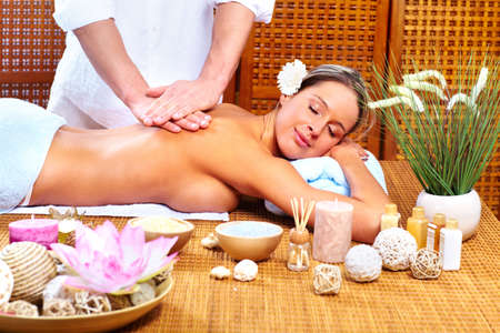 masoterapia: masaje spa Foto de archivo