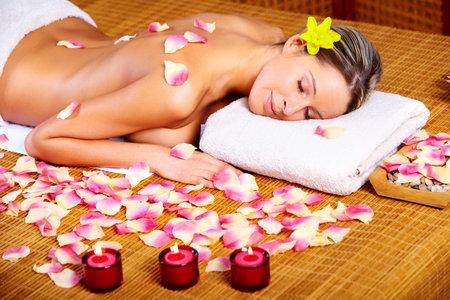 aromas: spa massage Stock Photo