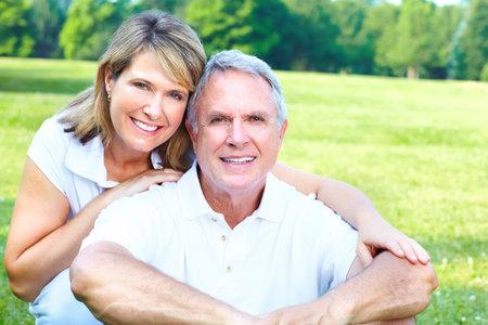 resting: Senior couple Stock Photo