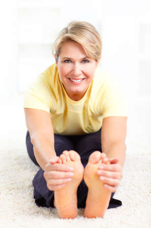 indoor sport: Happy woman