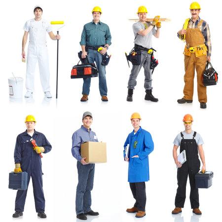 obrero trabajando: Personas de los trabajadores de contratistas. Foto de archivo
