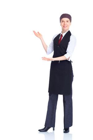hotel staff: waitress  woman