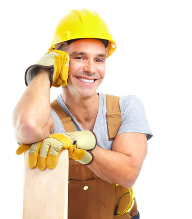 manufactory: Handsome contractor Stock Photo