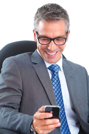 email contact: Businessman Stock Photo