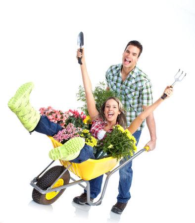Gartenarbeit Standard-Bild