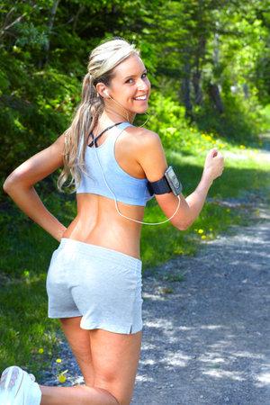 running shoe: Jogging woman.