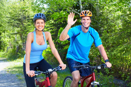 Riding couple. Stock Photo - 9654687
