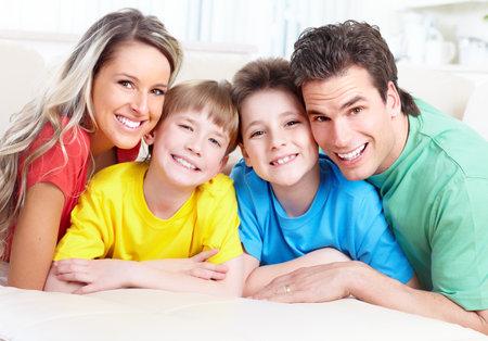 dental smile: Happy family.