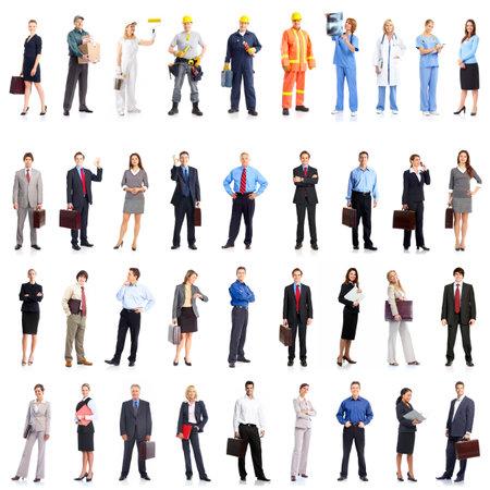 man working: Business people team