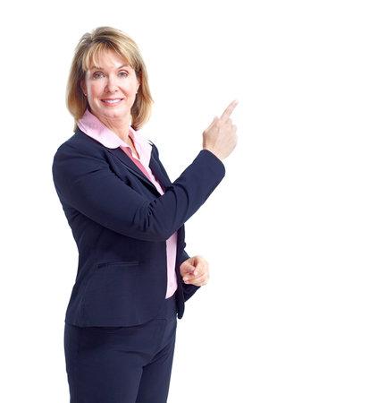 Mujer de negocios.  Aisladas sobre fondo blanco.