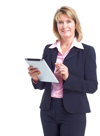 secretarias: Mujer de negocios. Foto de archivo