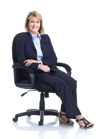 Business woman . Isolated over white background.