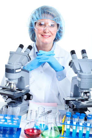 Medical doctor working at laboratory. Stock Photo - 10224520