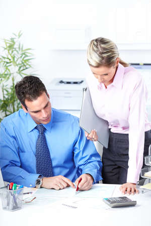 Business people team working in the office. Stock Photo - 10223897