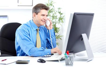 oficinista: Empresario. Foto de archivo