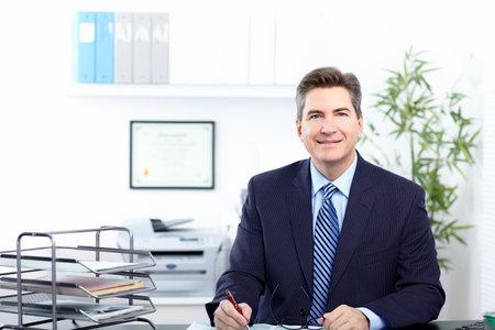expert comptable: Homme d'affaires. Banque d'images