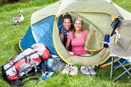 camping tent: Camping. Stock Photo