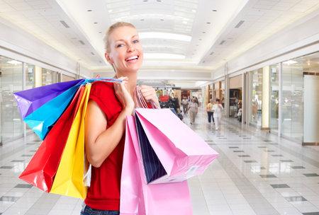 store interior: Shopping woman.
