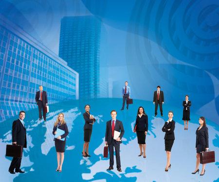 huge: Business people team
