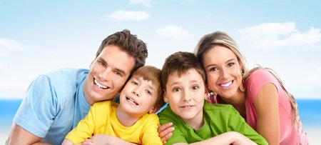 Familia feliz Foto de archivo - 10369079