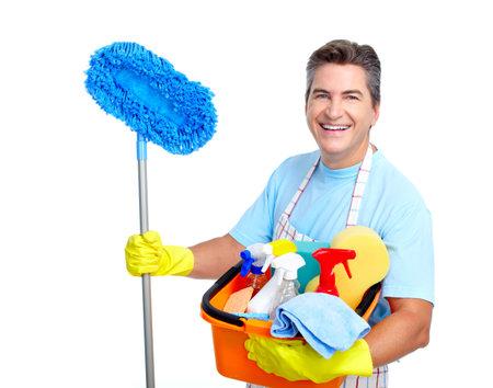 empleadas domesticas: Limpiador. Foto de archivo