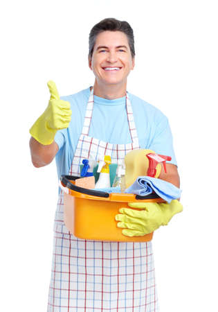 Man cleaning: Cleaner.