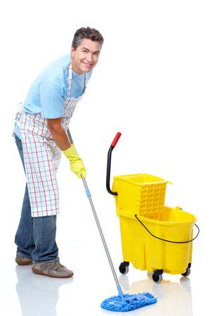 mop the floor: Cleaner.